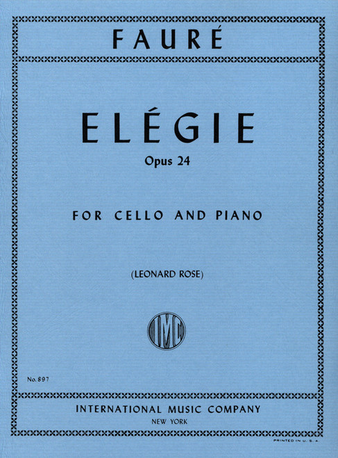 Faure Elegie for Cello and Piano Op. 24