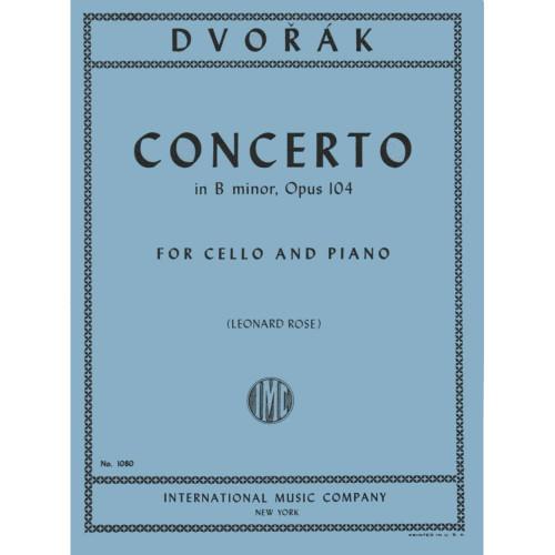 Dvorak Cello Concerto in B minor Op. 104 for Cello and Piano