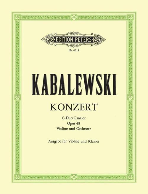 Kabalevsky: Dimitri Borisovich: Concerto in C Op. 48 for Violin & Piano