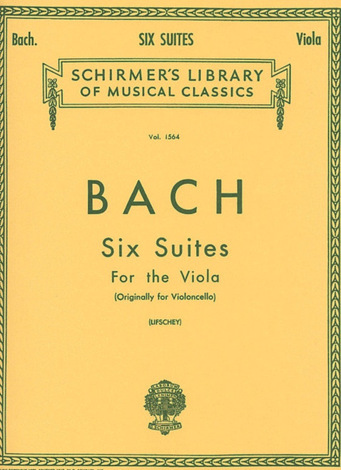Bach, Johann Sebastian:  Six Suites for Viola (Originally for Cello)