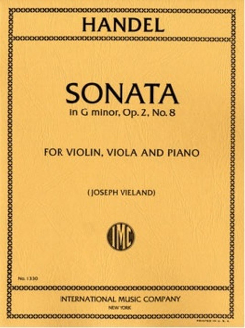 Handel, George Frideric: Sonata in G minor, Op. 2 No. 8 for Violin, Viola and Piano