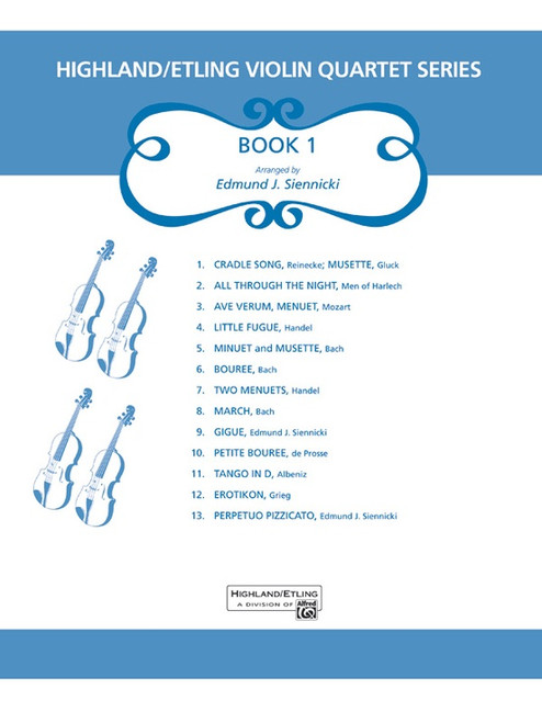 Highland/Etling VIolin Quartet Series Book 1