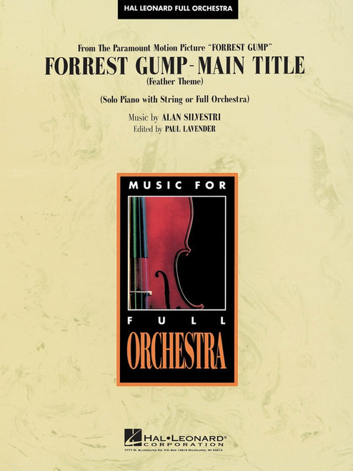 Silvestri, Alan: Forrest Gump - Main Title (Solo Piano with String or Full Orchestra)