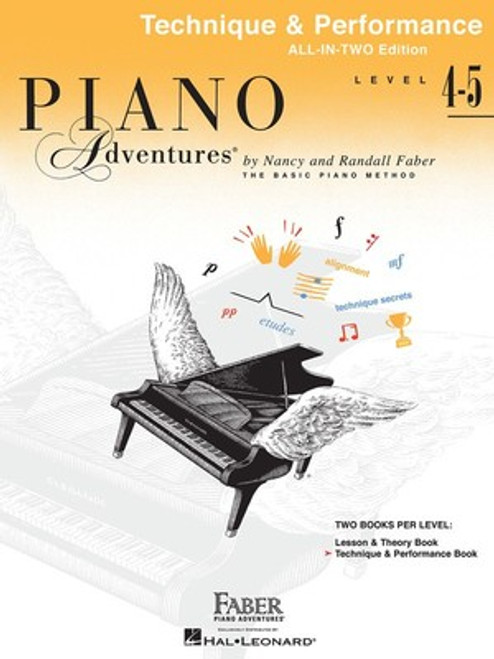 Piano Adventures All-In-Two Level 4 and 5 - Technique & Performance Book Only