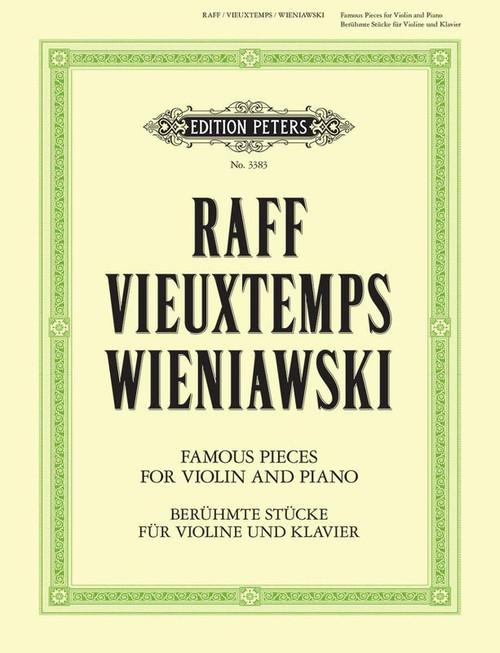 Raff, Vieuxtemps, Wieniawski: Famous Pieces for Violin and Piano