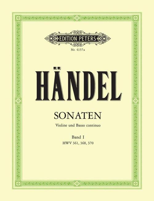 Handel, George Friederich: Sonatas Vol. 1