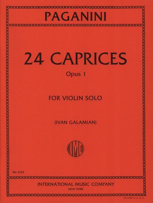 Paganini, Niccolo: 24 Caprices Opus 1