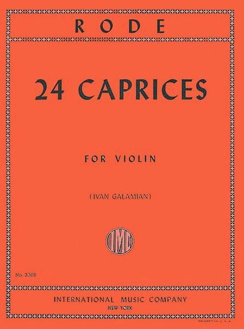 Rode, Pierre: 24 Caprices Opus 22 (IMC Ed.)
