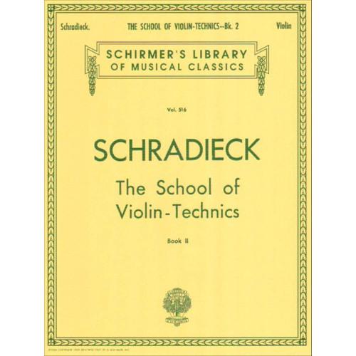Schradieck, Henry: The School of Violin Technics Book 2