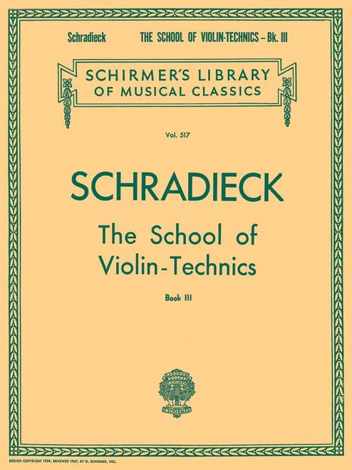 Schradieck, Henry: The School of Violin Technics Book 3