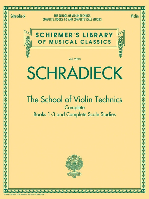 Schradieck, Henry: The School of Violin Technics Book 1-3 Complete