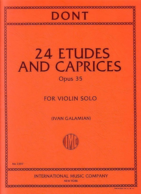 Dont, Jakob: 24 Etudes and Caprices Opus 35 for Violin Solo