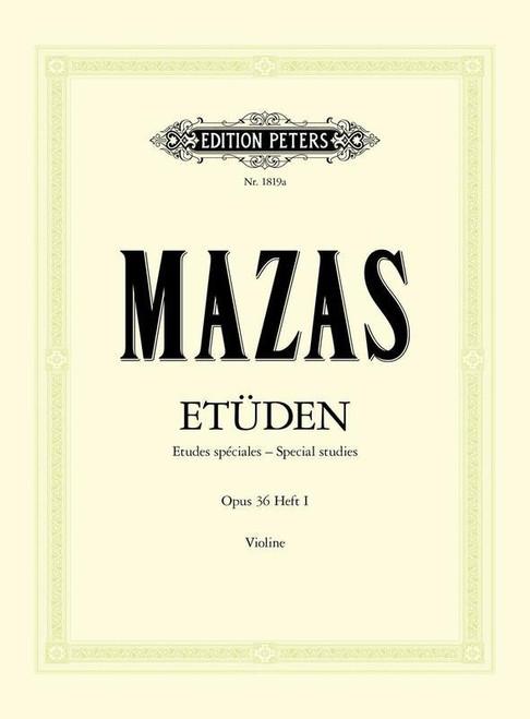 Mazas, Jacques Fereol: Etudes Op. 36 Vol. 1 Special Studies