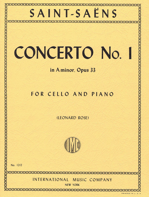 Saint-Saëns: Concerto No. 1 in A minor, Opus 33 for Cello and Piano