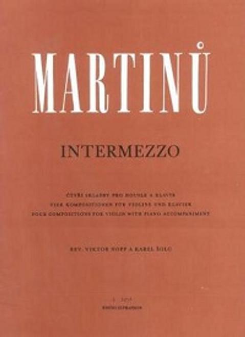 Martinu, Bohuslav: Intermezzo for Violin & Piano
