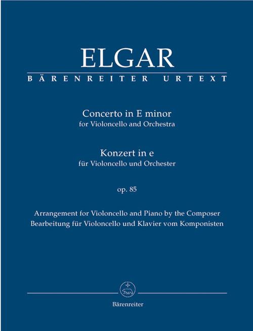 Concerto in E minor Op.85 by Edward Elgar for Cello & Piano