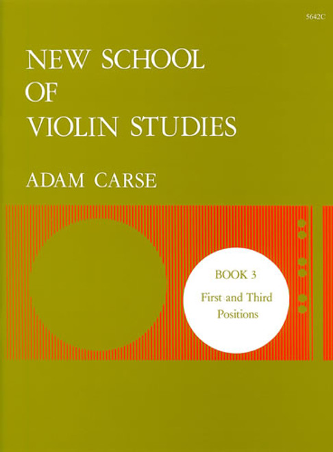Carse, Adam: New School of Violin Studies. Book 3
