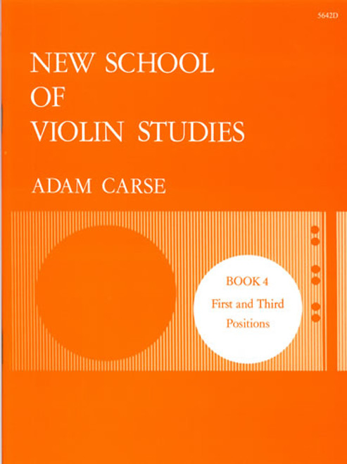 Carse, Adam: New School of Violin Studies. Book 4