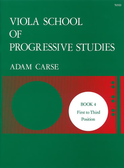 Carse, Adam: Viola School of Progressive Studies. Book 4