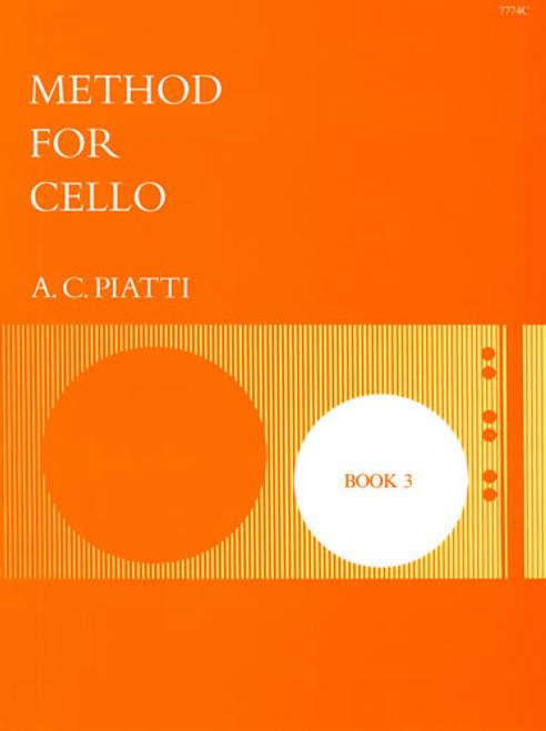 Piatti Method For Cello Book 3
