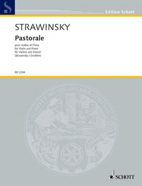 Stravinsky, Igor: Pastorale for Violin & Piano