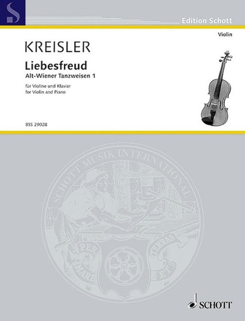 Kreisler, Fritz: Liebesfreud  for Violin & Piano