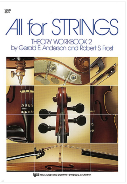 All For Strings Theory Workbook 2 for Violin
