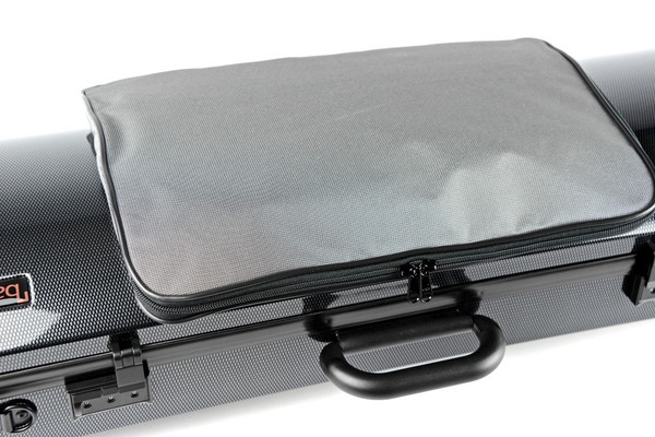 BAM Hightech Oblong Viola Case Compact  with Pocket - Tweed