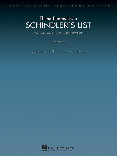 Three Pieces from Schindler's List for Violin and Piano