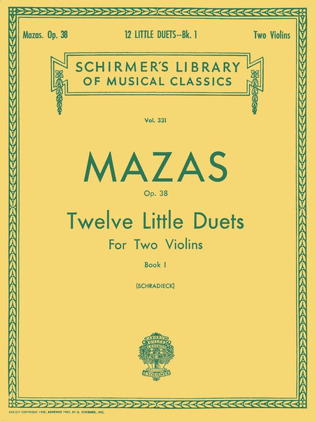 Mazas, Jacques Fereol: 12 Little Duets for Two Violins, Op. 38 Book 1