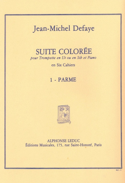 Defaye, Jean-Michel: Suite Coloree No 1 Parme Trumpet/Piano