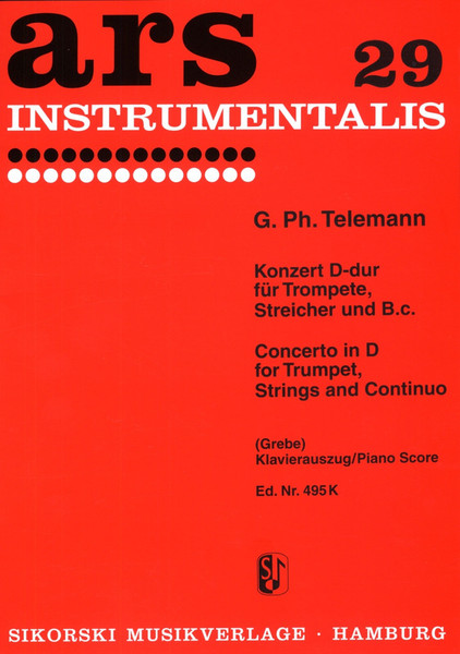 Telemann, Georg Philipp: Concerto for Trumpet, Strings, and Continuo in D