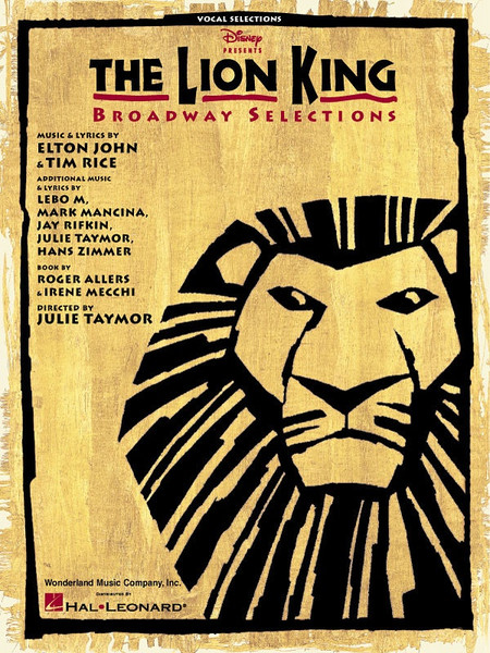 The Lion King Broadway - Vocal Selections