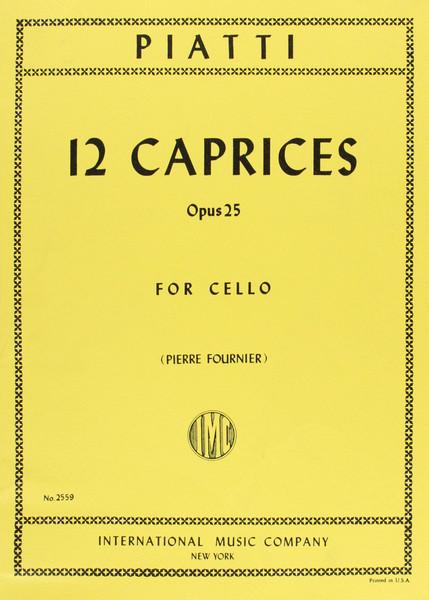 Piatti: 12 Caprices Opus 25 for Cello