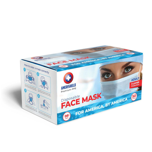 AmeriShield USA Made Disposable Face Mask