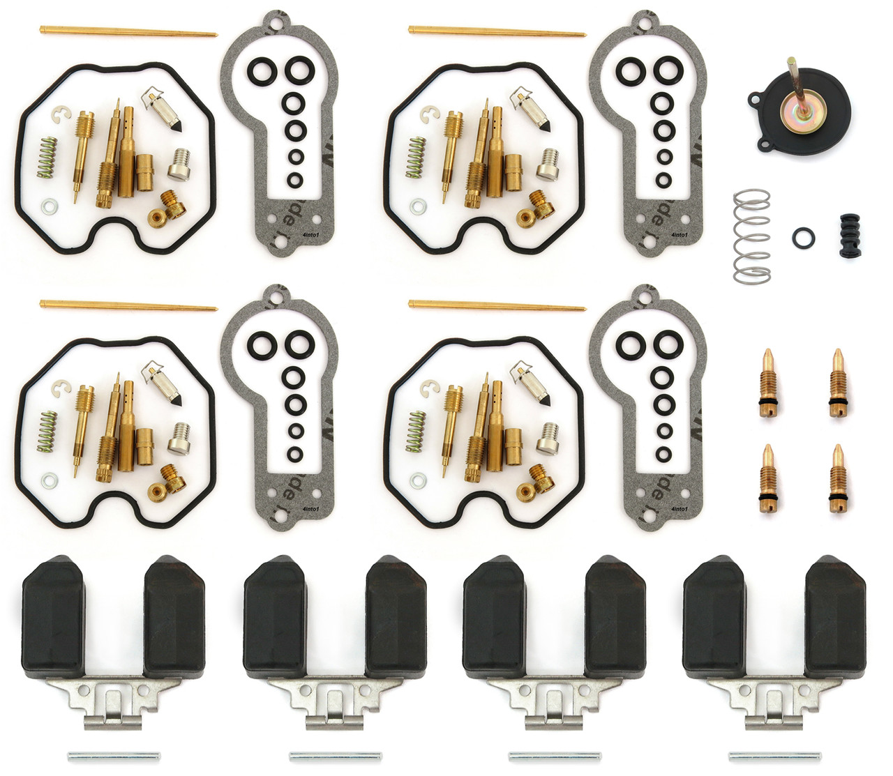 KIPA 4-Pack Carburetor Carb Rebuild Repair Kit for Honda CB750 CB750C CB750K CB750SC 1980-1983