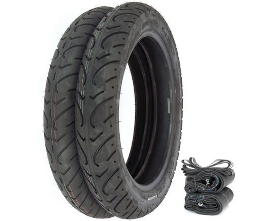 Shinko 712 Tire Set Compatible with Honda CB650 CB750A 77-78 CB750K 80-82 CB750L GL1000 Tires Only