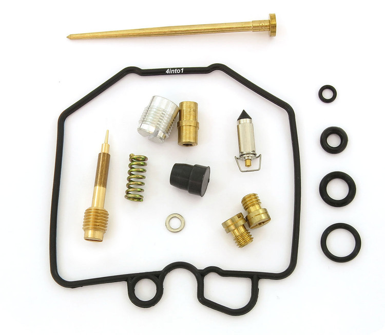 Qiilu Carburetor Carb Rebuild Kit KH-0373NFR Replacement Metal Rubber Carburetor Rebuild Kit Fit for Honda CX500 GL500 1978-1979