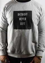 Detroit Never Left™ Unisex Crewneck – Gray/Black