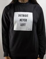 Detroit Never Left™ Unisex Crewneck – Black/White
