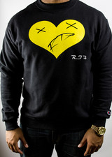 Heart of a Monsta Crewneck - Black/Yellow
