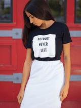 Detroit Never Left™Wmns Tee - Black/White