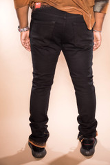 Hand Stained Skinny Stretch Jean - Black