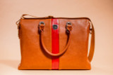 The Gratiot Briefcase - Brown/Red