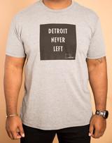 Detroit Never Left™ Unisex Tri-Blend Tee - Gray/Black