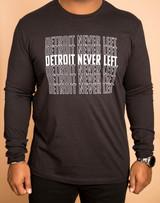 Detroit Never Left™ Unisex Long Sleeve - Black/White