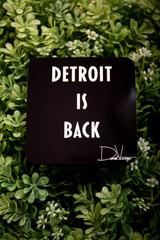 Detroit Is Back™ Coaster