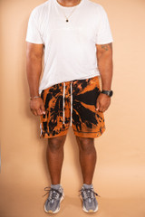 Signature Hand Stained Shorts - Black