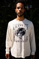 Detroit Black Panthers  Unisex L/S - Off-White