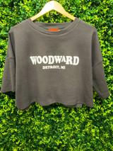 Woodward Crop Tee - Charcoal